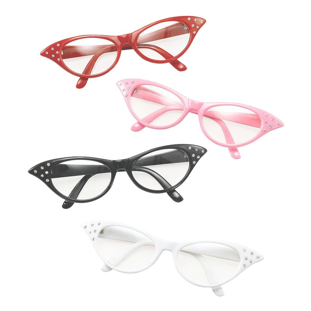 50-tals Glasögon - Svart