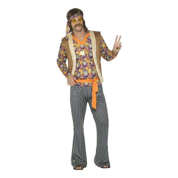 60-tals Hippiekille Maskeraddräkt - Small