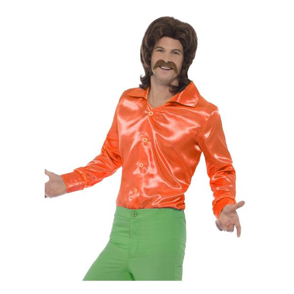 60-tals Skjorta Orange - Medium