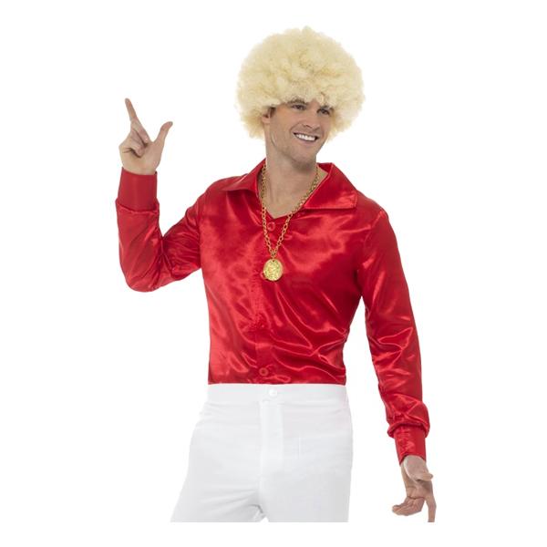 60-tals Skjorta Röd - Medium
