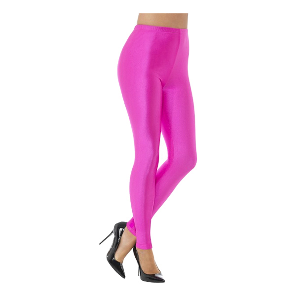 80-tals Disco Spandex Leggings Rosa - Small