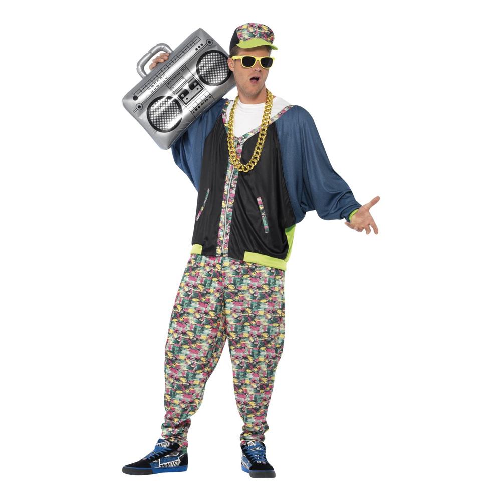 80-tals Hip Hop Maskeraddräkt - One size