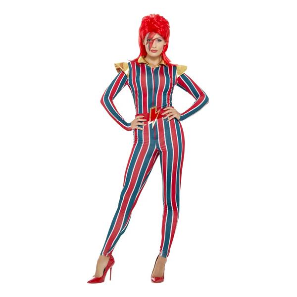 80-tals Miss Space Popstjärna Maskeraddräkt - Small