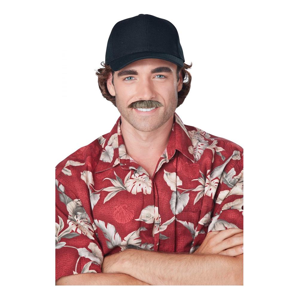 80-tals TV-Detektiv Mustasch