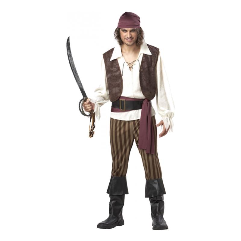Elak Piratkapten Maskeraddräkt - Large