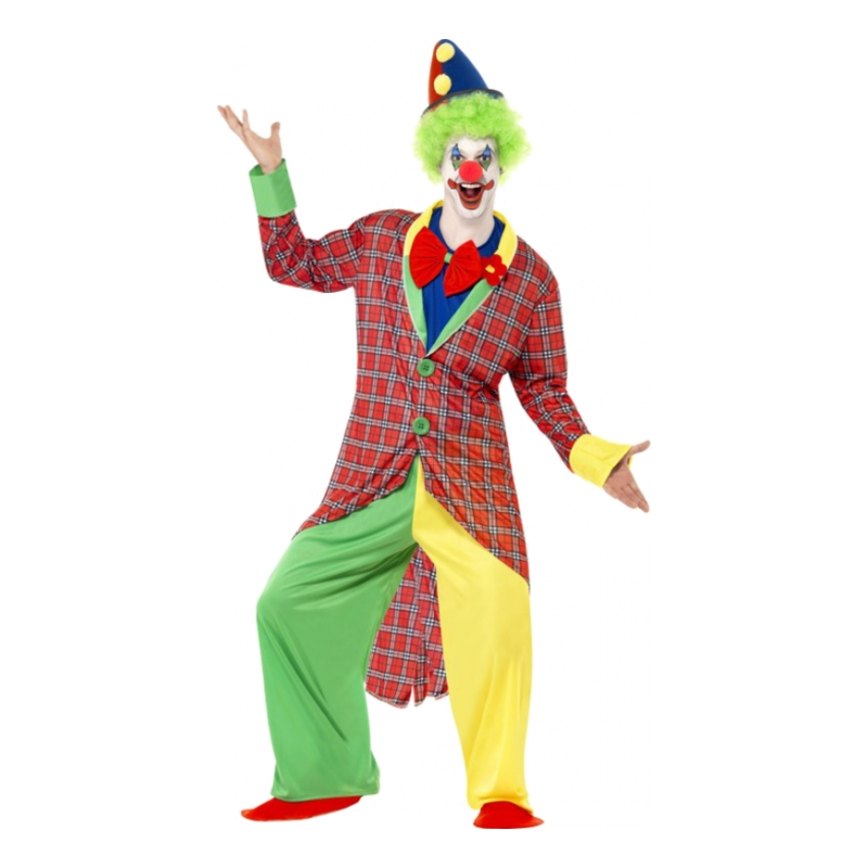 Cirkus Clown Maskeraddräkt - Medium