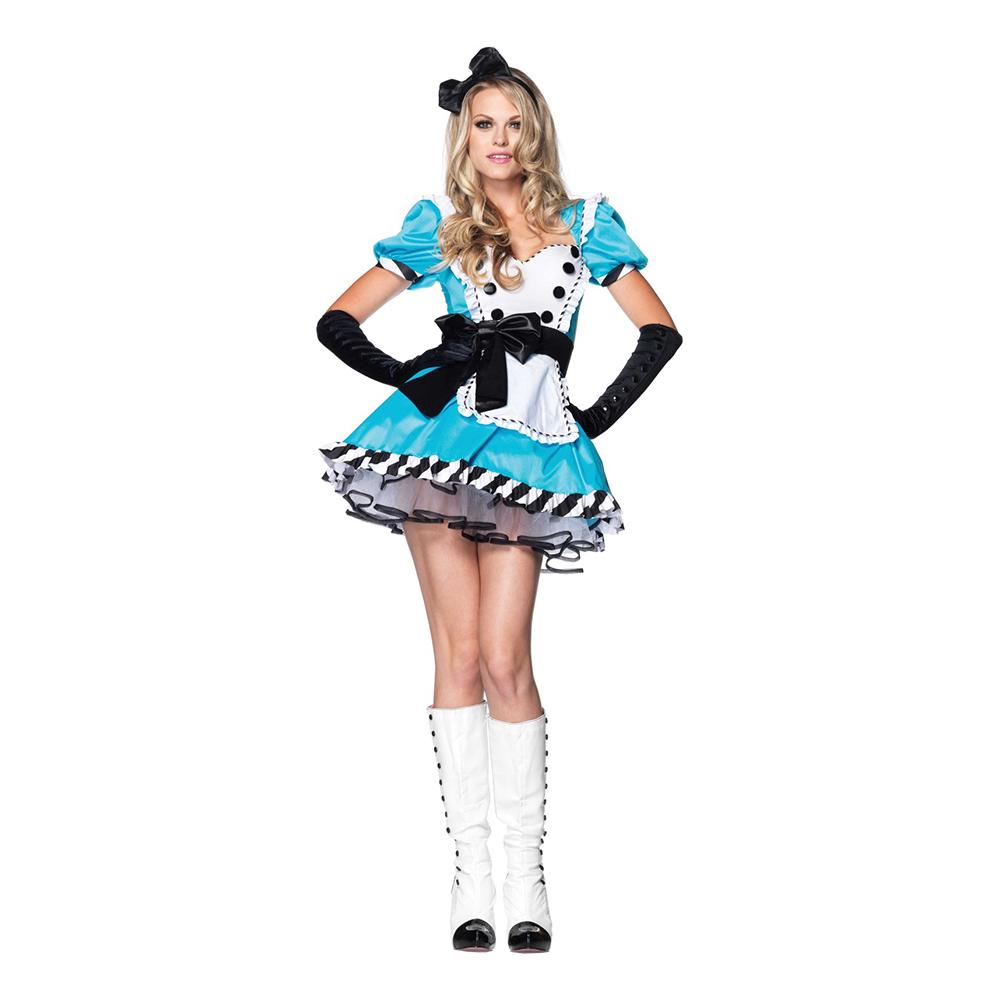 Alice Wonderland Deluxe Maskeraddräkt - Medium/Large