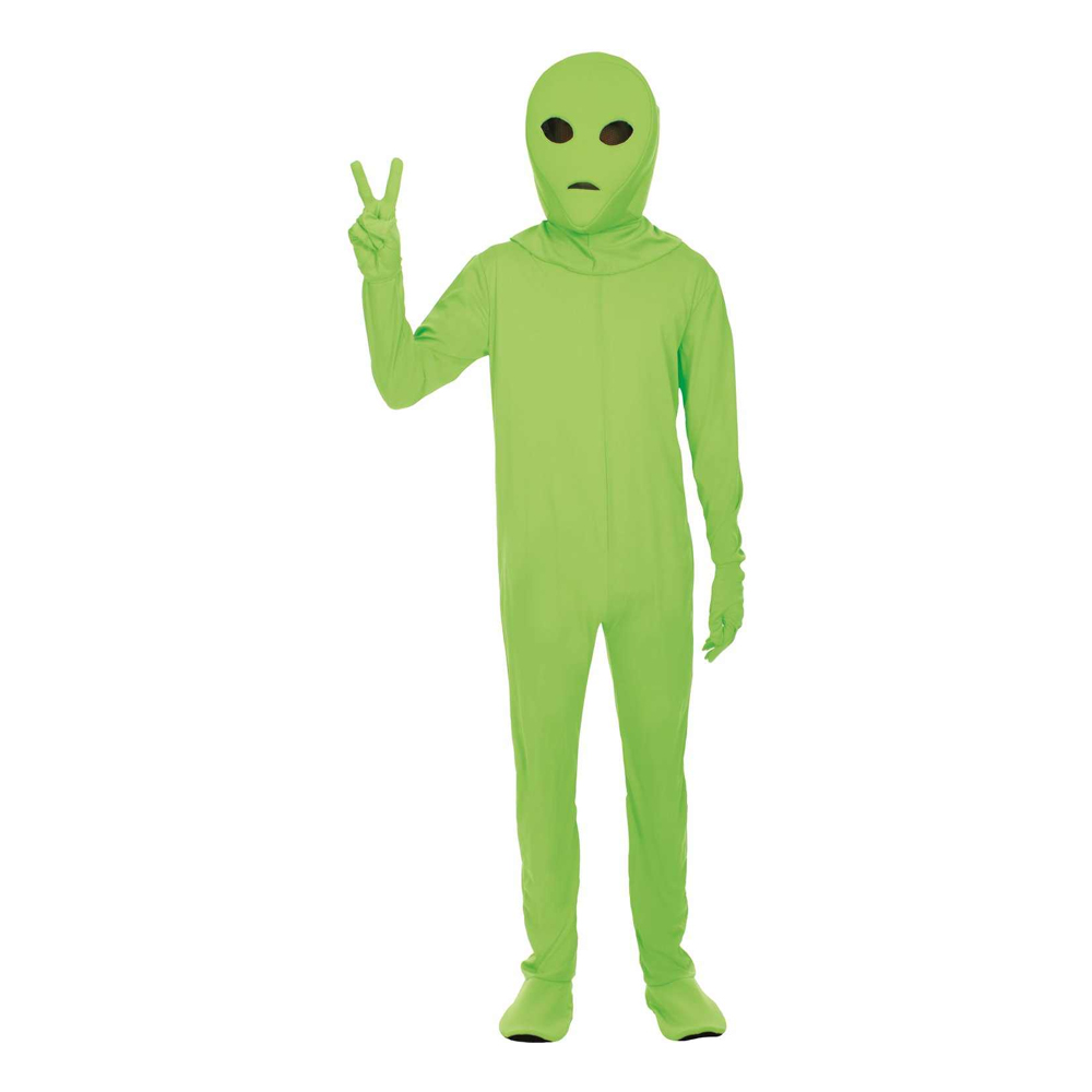 Alien Grön Maskeraddräkt - Standard