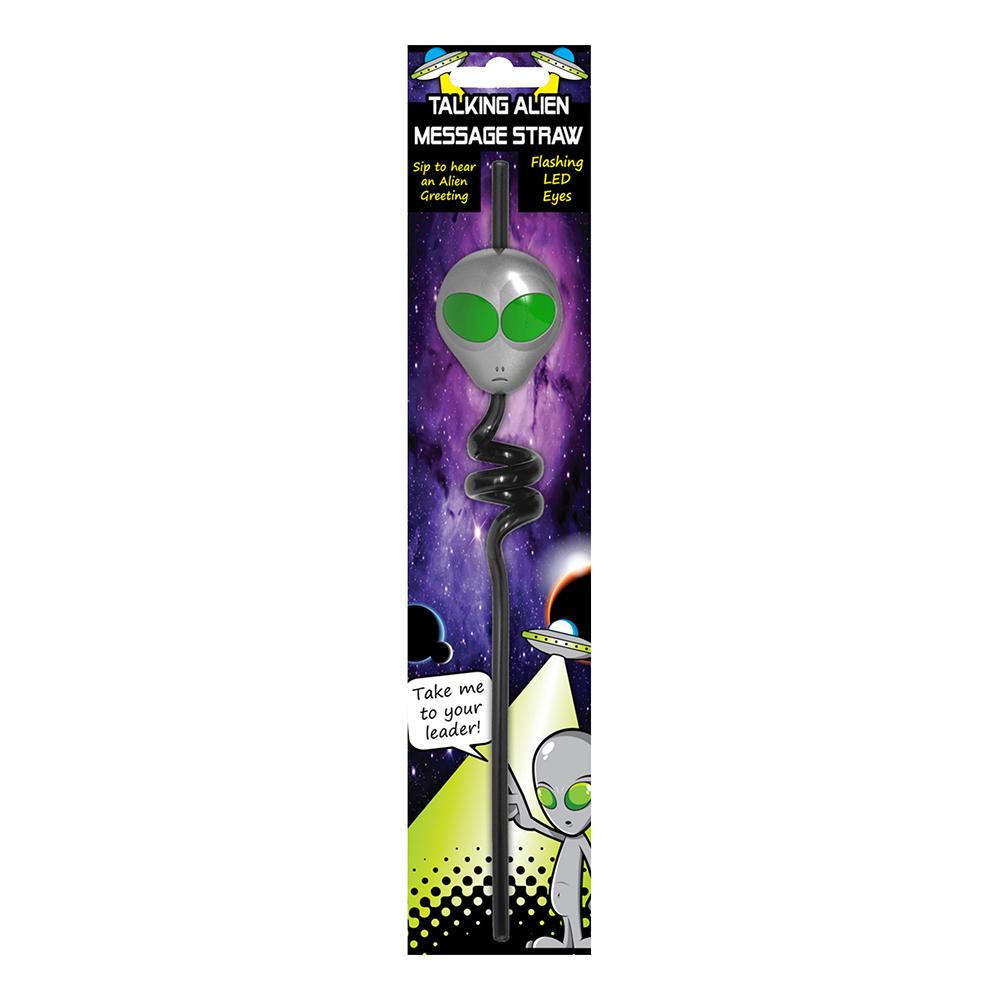 Alien LED Sugrör med Ljud