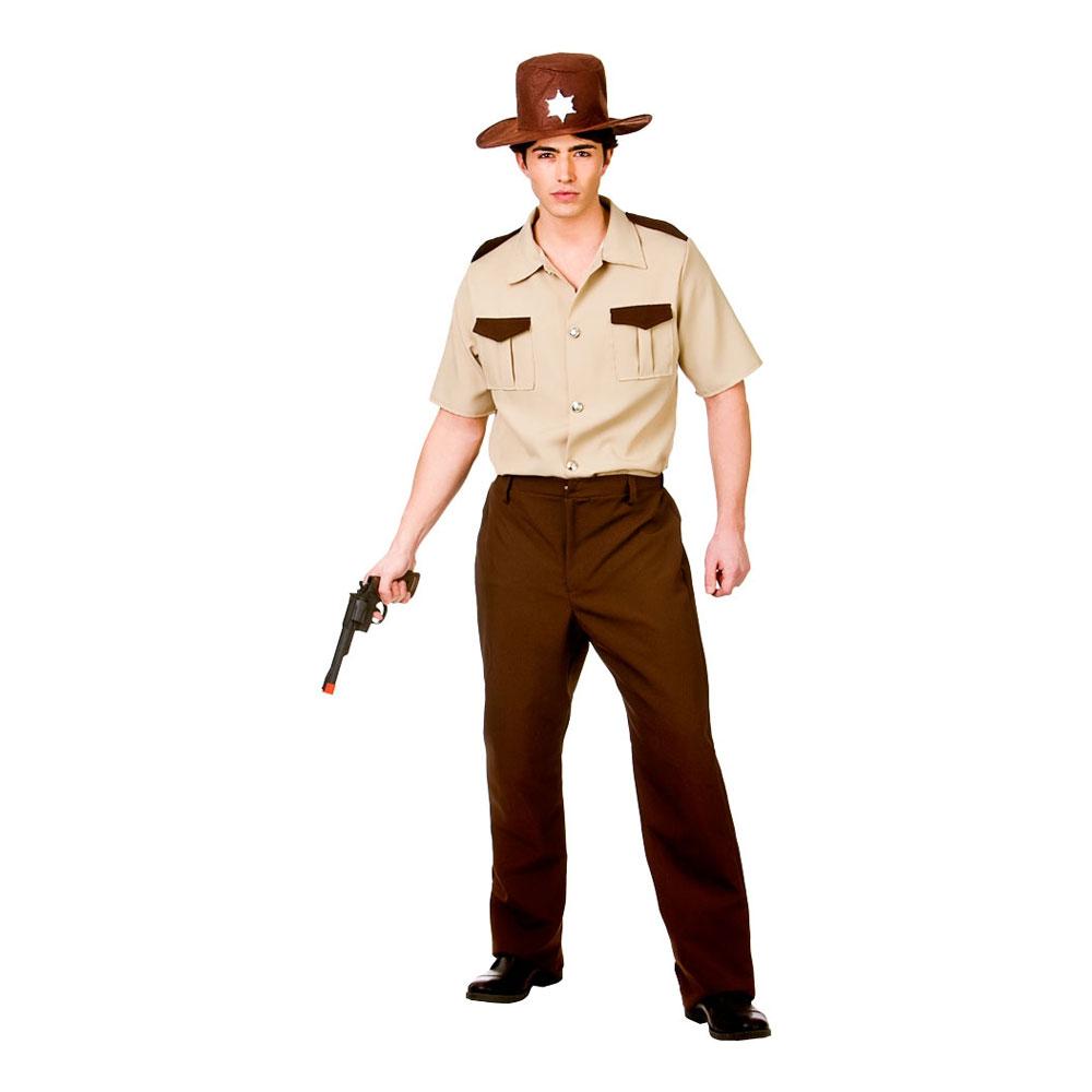 Amerikansk Sheriff Maskeraddräkt - Large