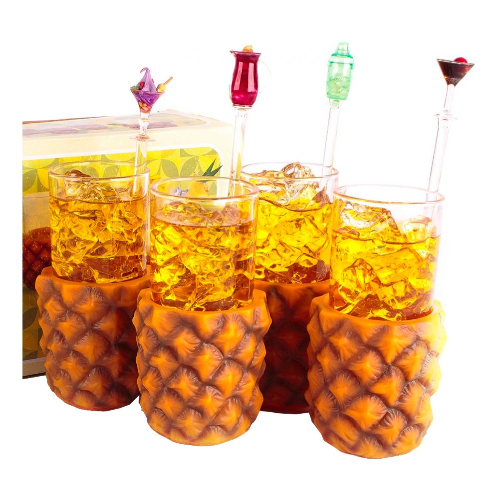 Ananas Glas 4 Pack Billigt 199 Kr