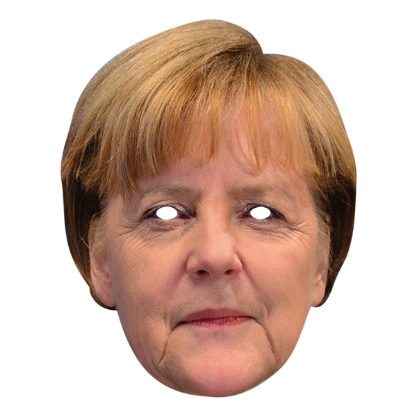 Angela Merkel Pappmask