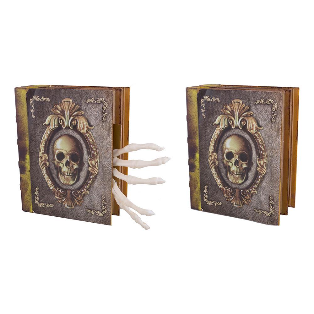 Animerad Skeletthand i Bok med Ljud