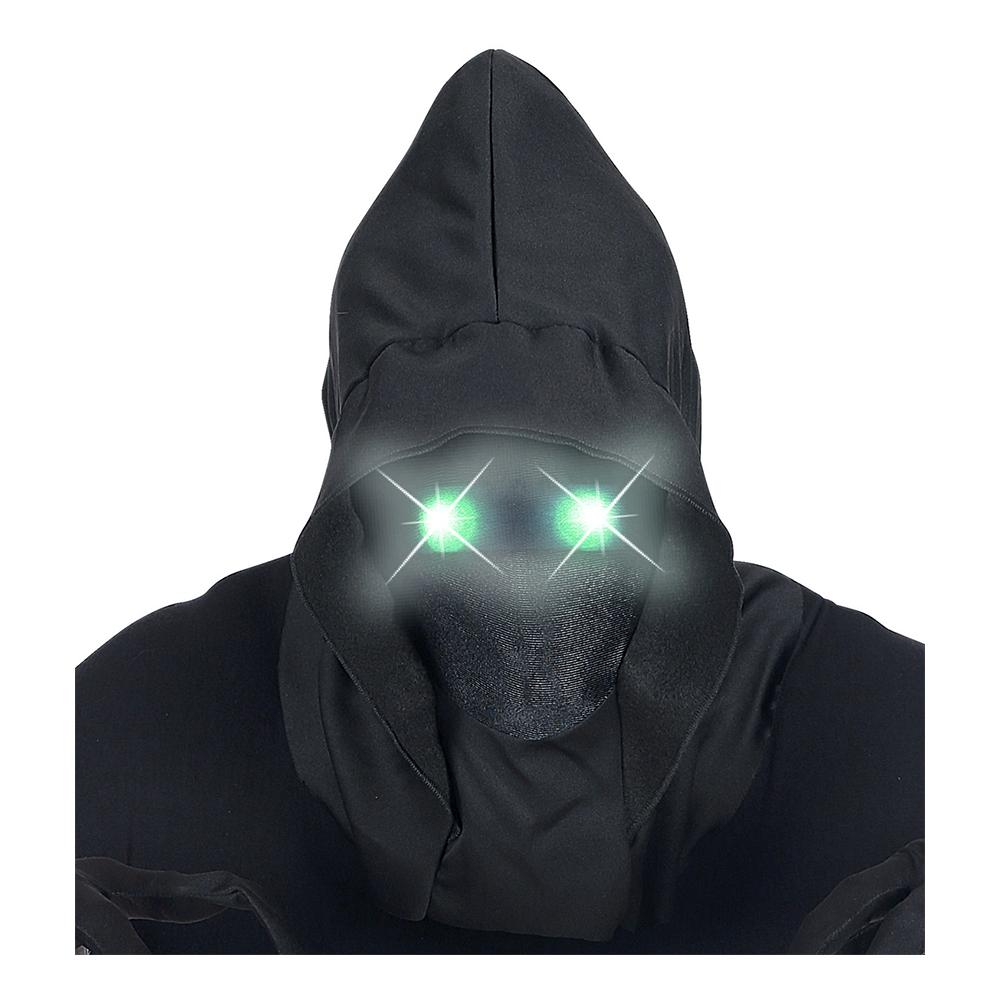 Ansiktslös Mask med Lysande Gröna Ögon - One size