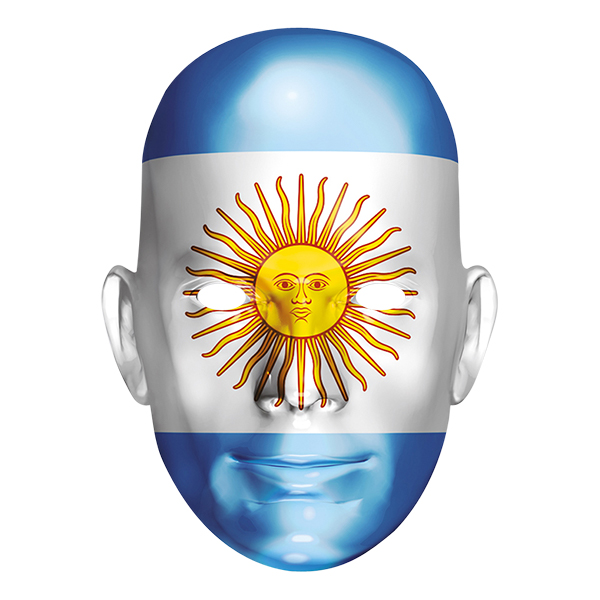 Argentinas Flagga Pappmask