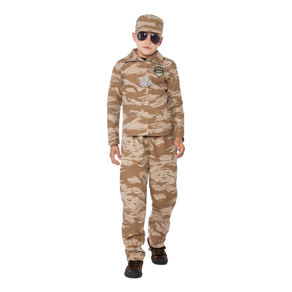 Armé Kamouflage Barn Maskeraddräkt - Medium