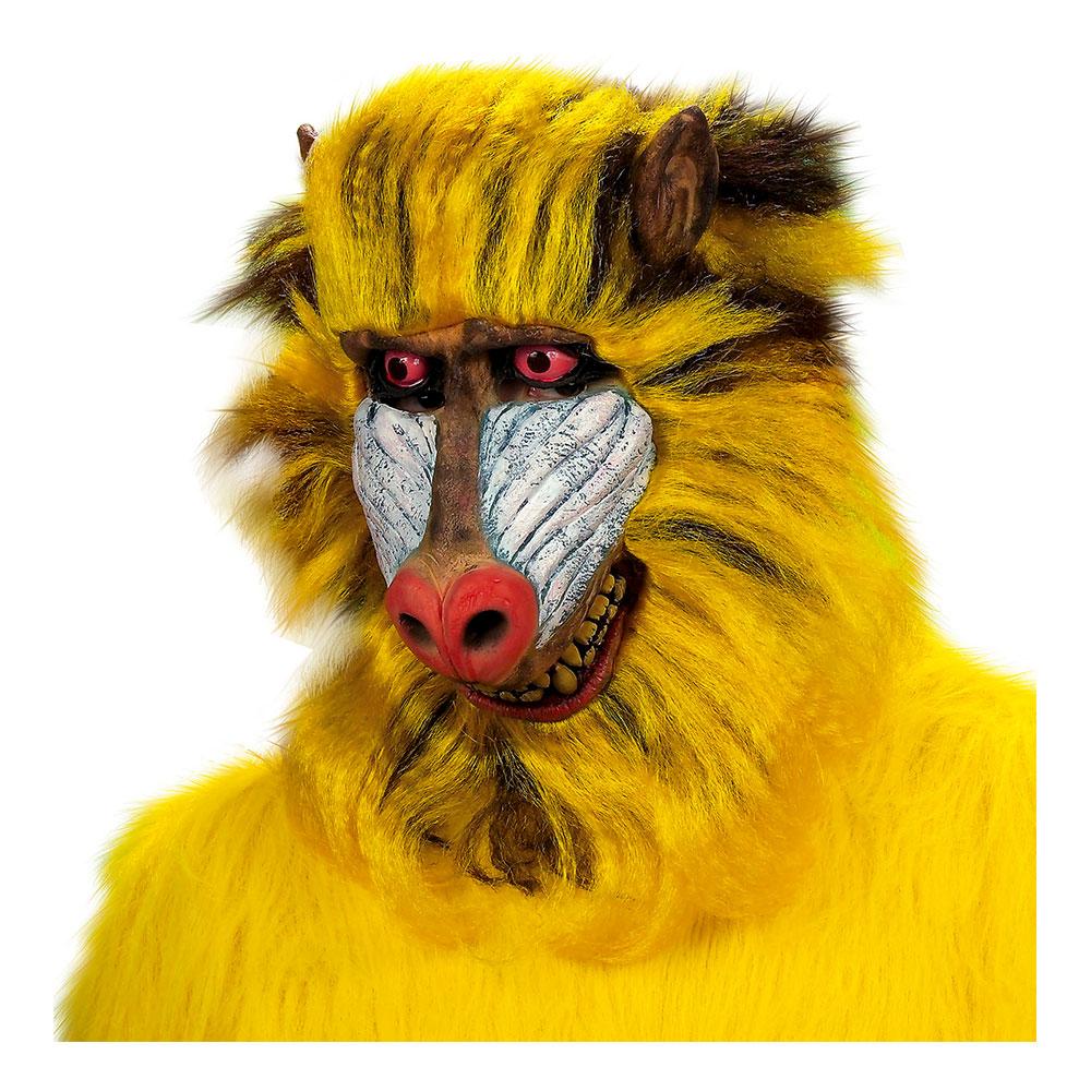 Babianmask med Hår - One size