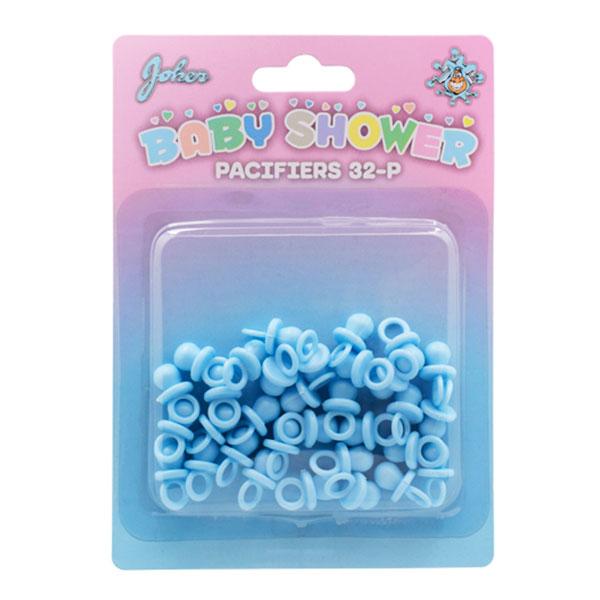 Babyshower Nappar Blå Bordsdekoration - 32-pack