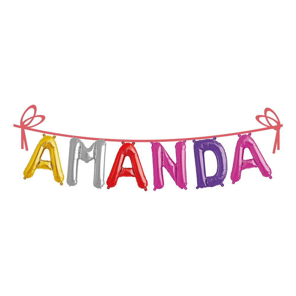Ballonggirlang Folie Namn - Amanda