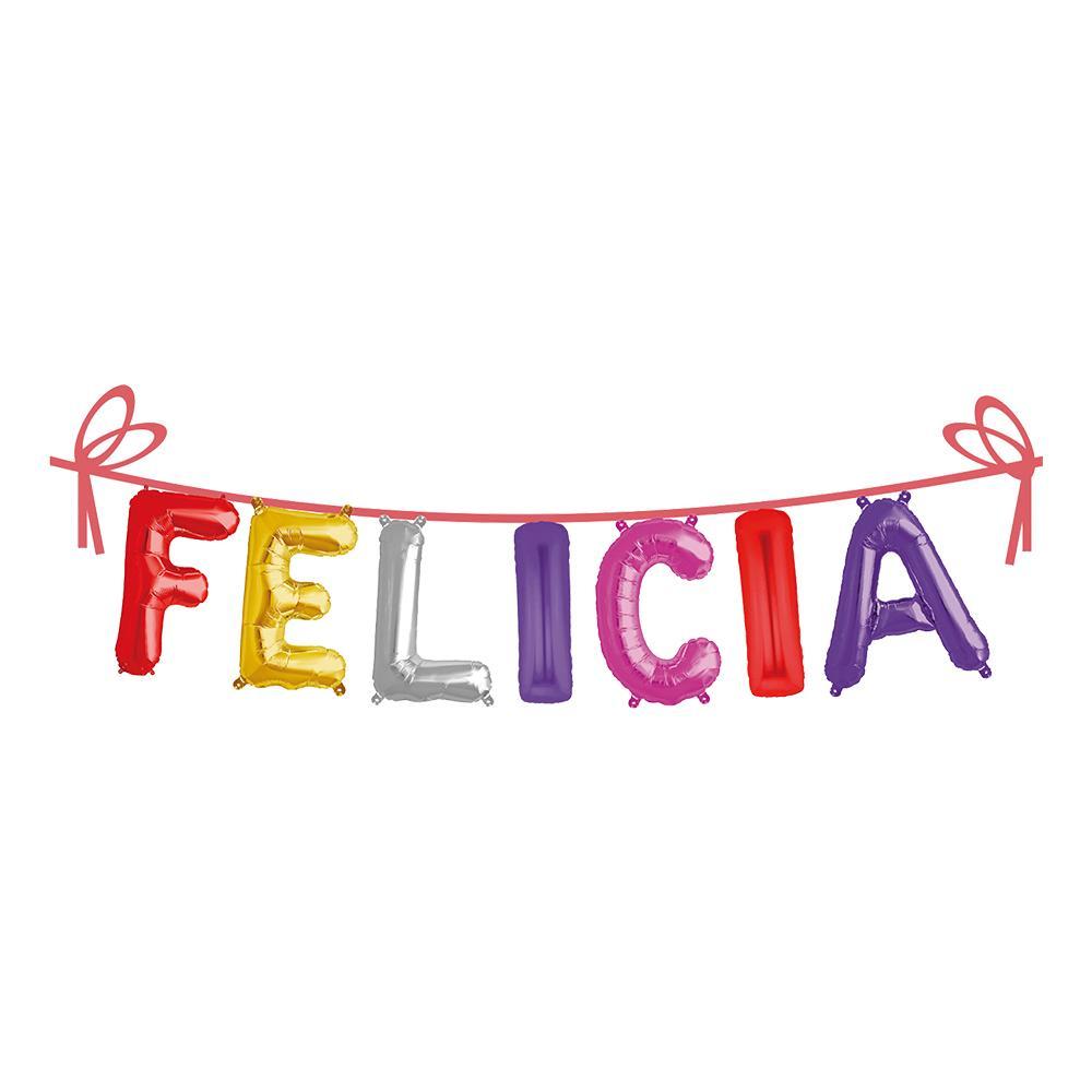 Ballonggirlang Folie Namn - Felicia