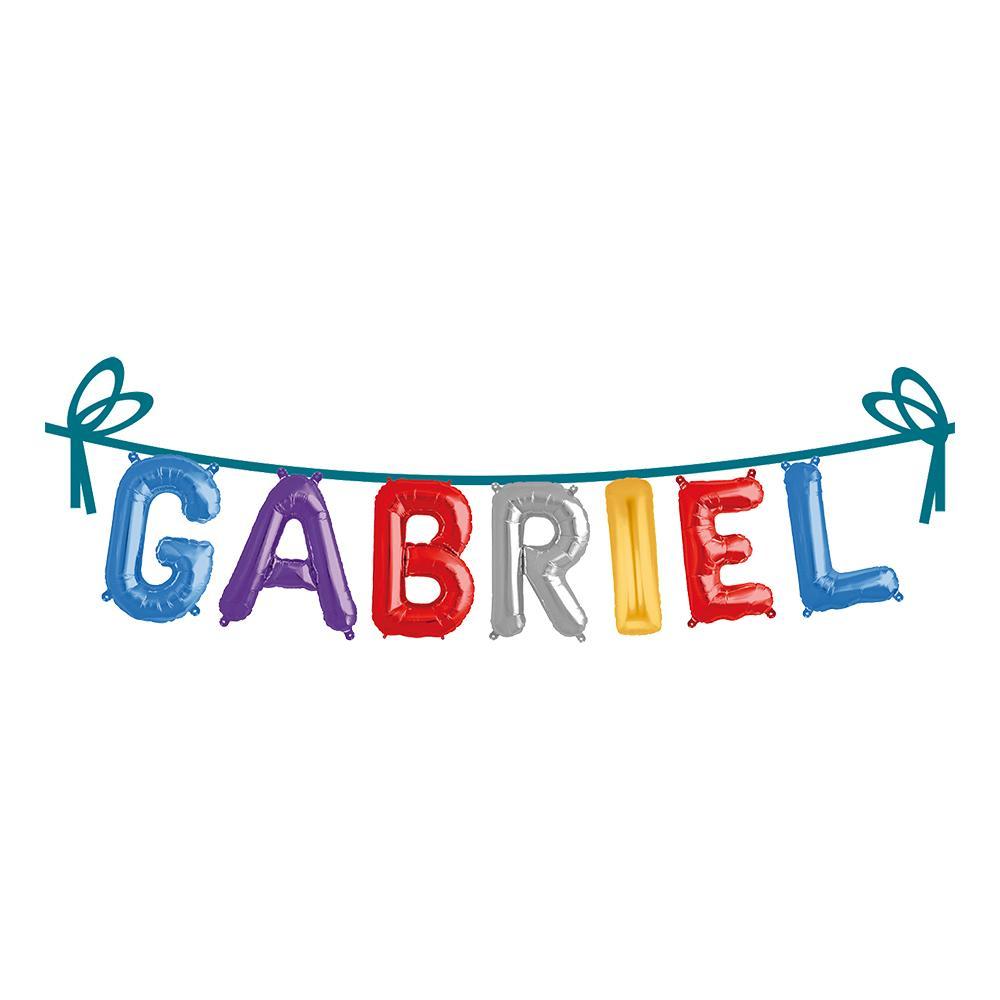 Ballonggirlang Folie Namn - Gabriel