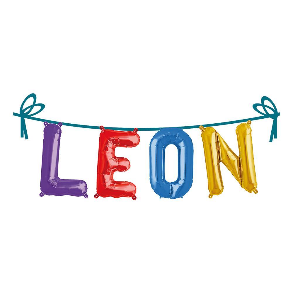 Ballonggirlang Folie Namn - Leon