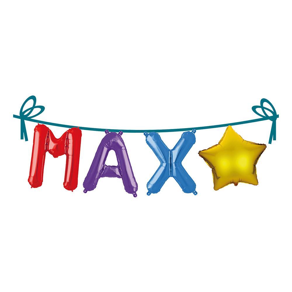 Ballonggirlang Folie Namn - Max