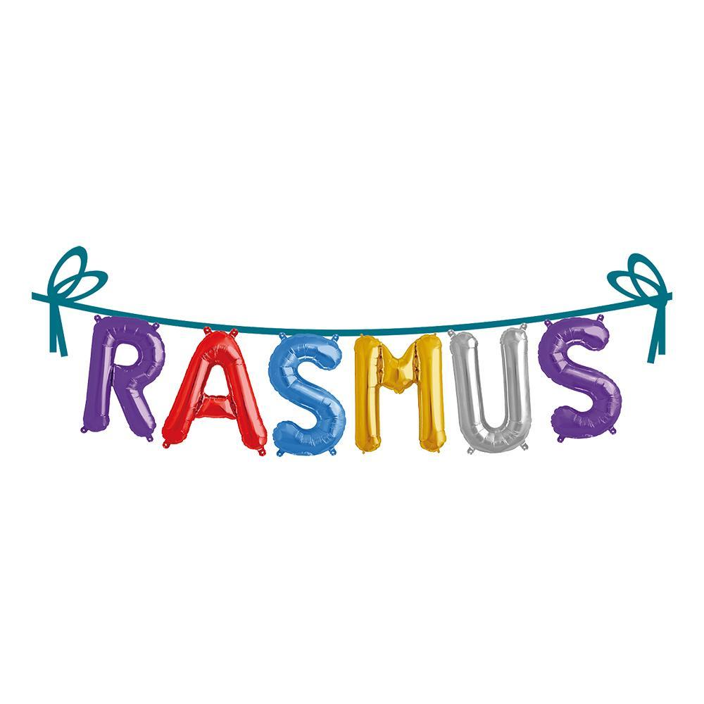 Ballonggirlang Folie Namn - Rasmus