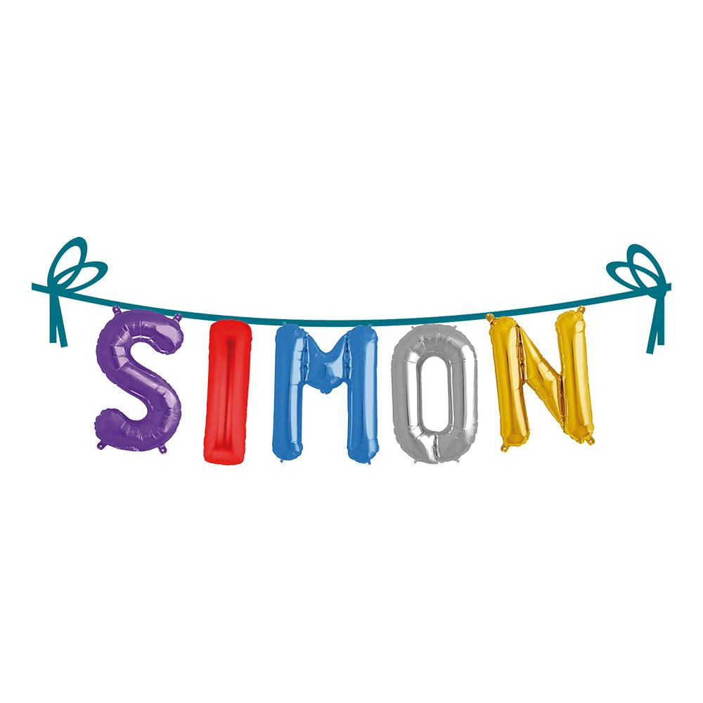 Ballonggirlang Folie Namn - Simon