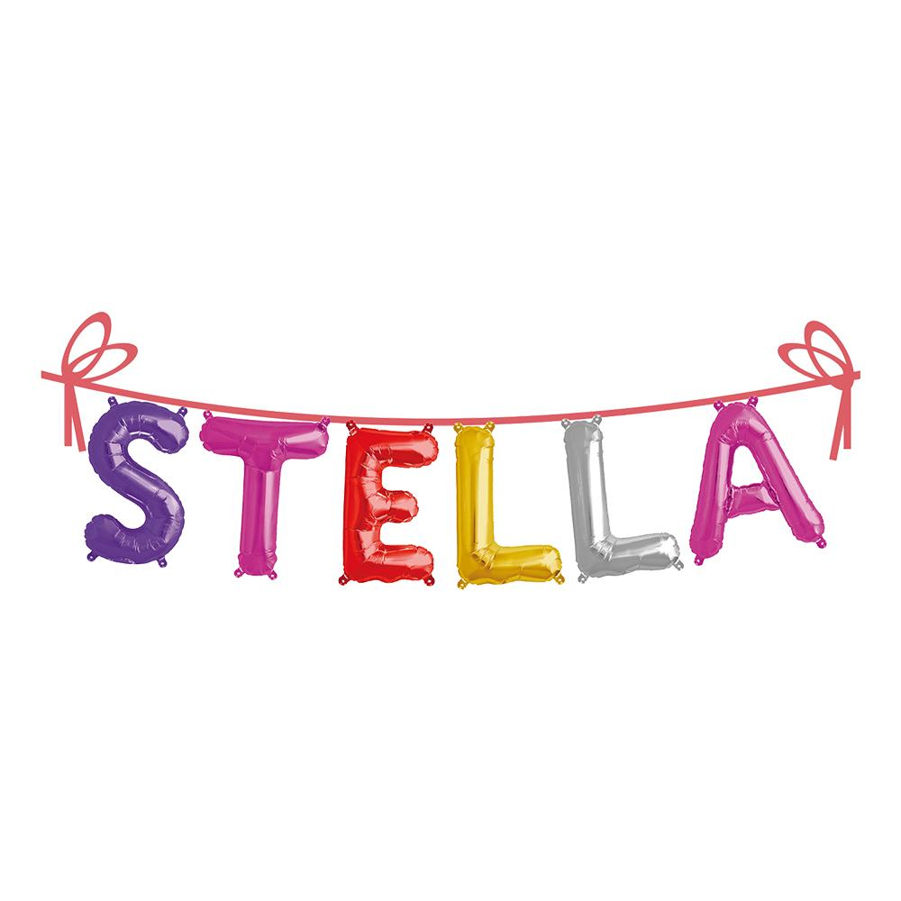 Folieballong Girlang Namn - Stella