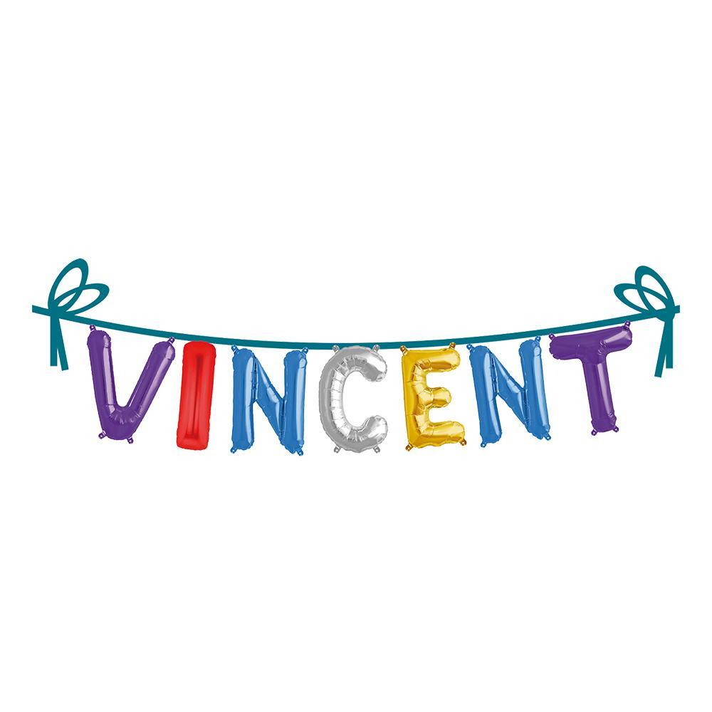 Ballonggirlang Folie Namn - Vincent