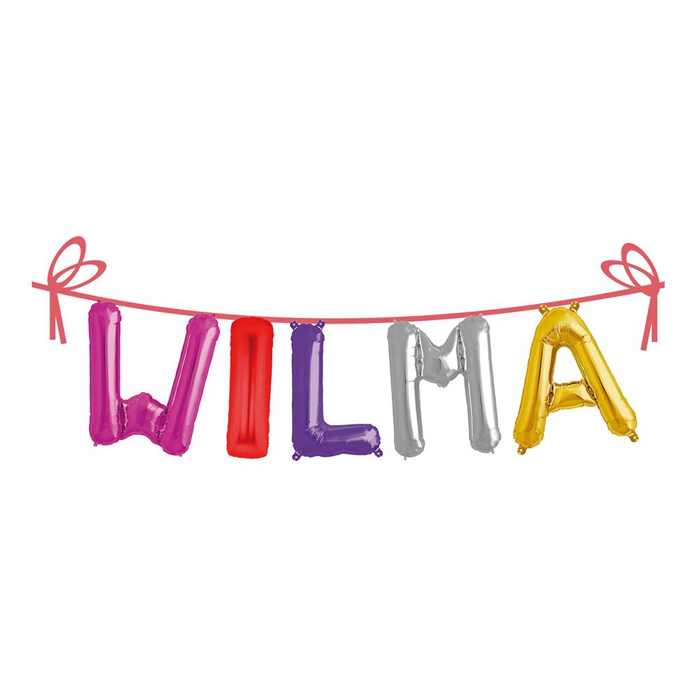 Ballonggirlang Folie Namn - Wilma