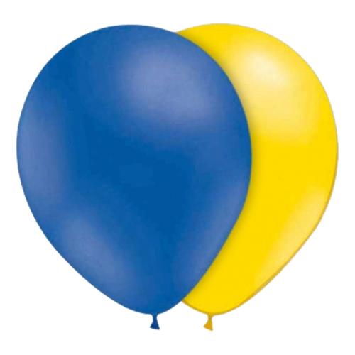 Ballonger Blå/Gula - 10-pack