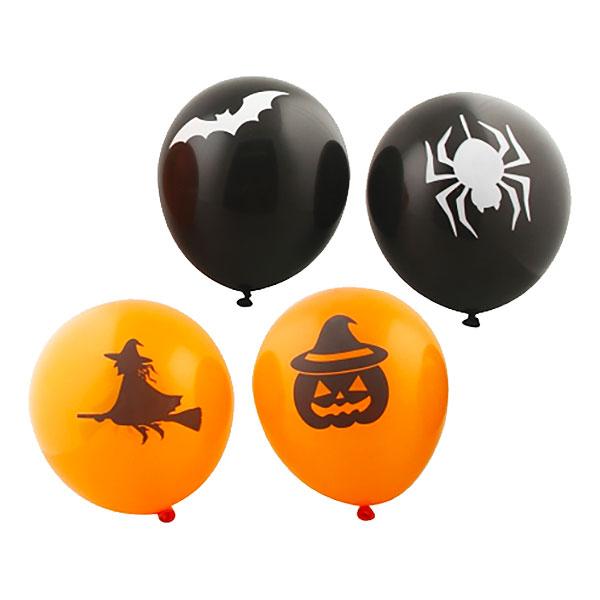 Ballonger Halloween Svart Orange - 8-pack till partypris ... 1d56eae218a04
