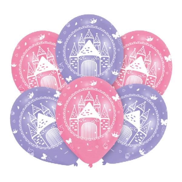 Ballonger Prinsessa Sagoslott - 6-pack