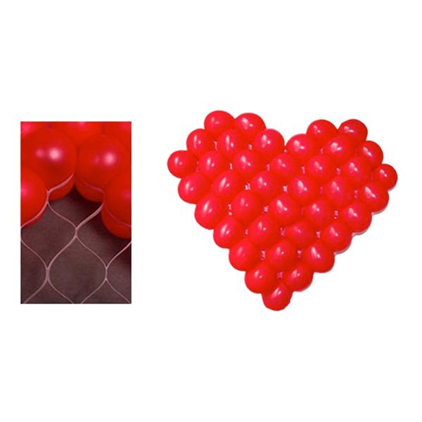 Ballongnät Hjärtformat