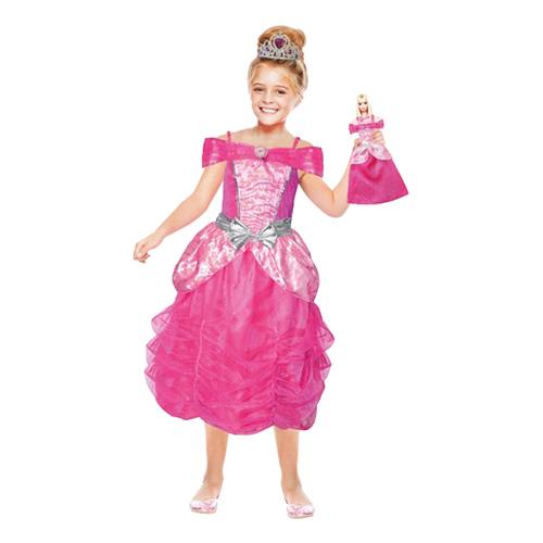 Barbie Med Dockklänning Barn Maskeraddräkt - Small