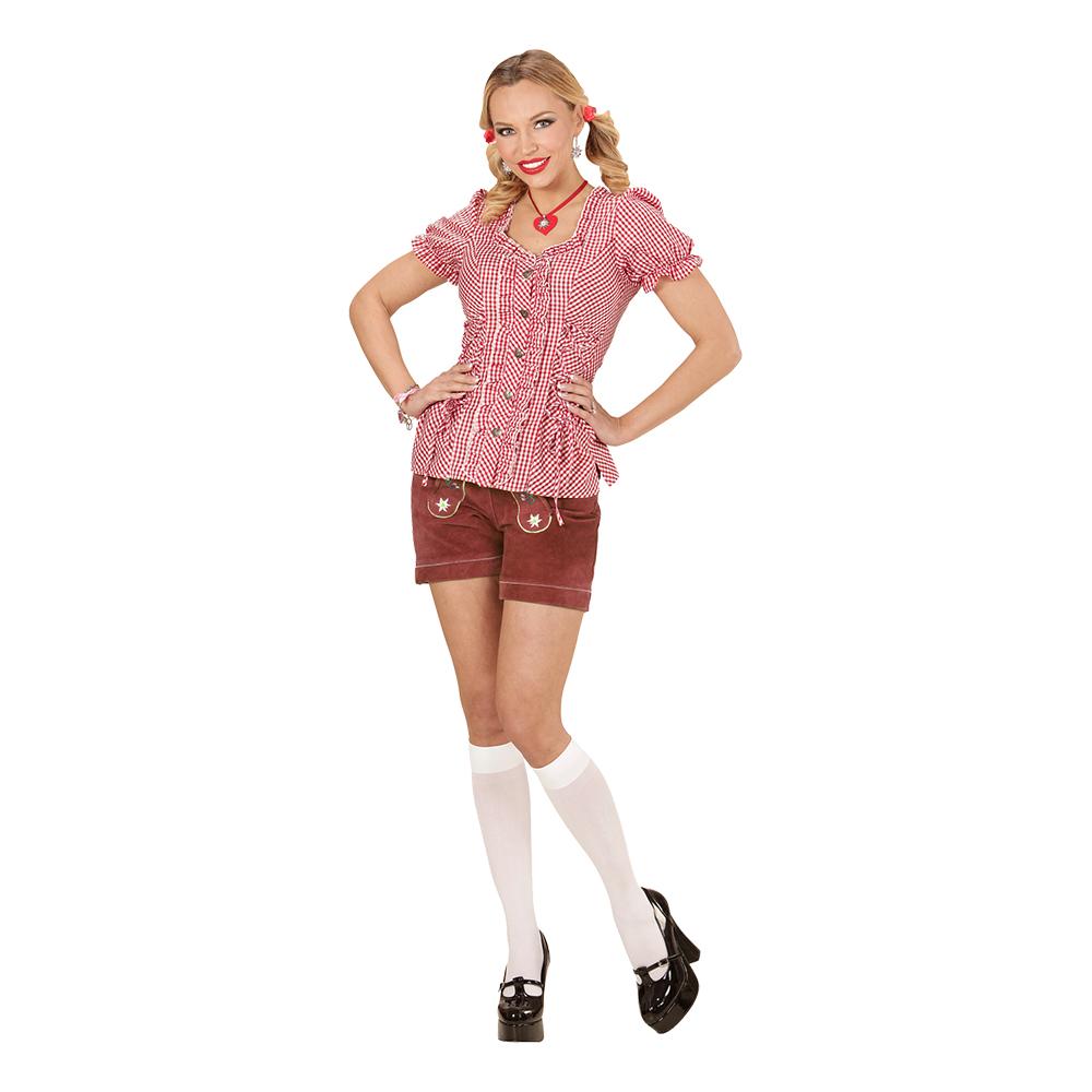 Bavarian Rödrutig Blus - Small