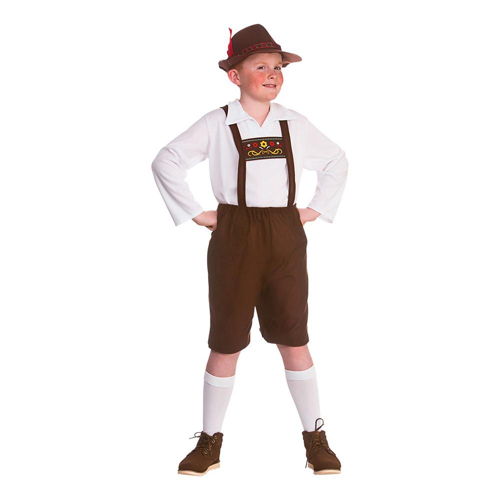 Bavarisk Pojke Barn Maskeraddräkt - Medium