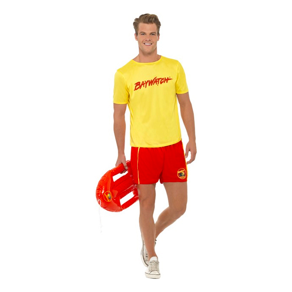 Baywatch med T-Shirt Maskeraddräkt - Medium
