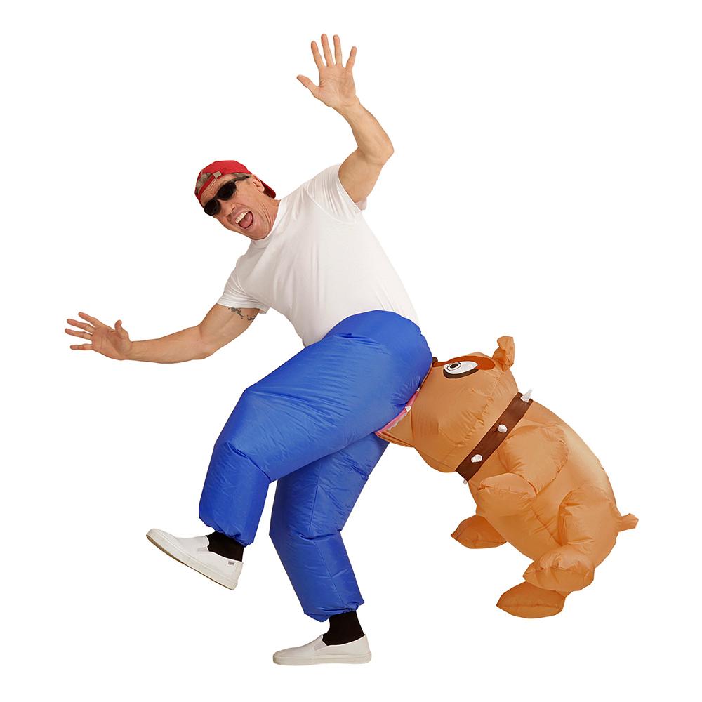 Uppblåsbar Bitande Bulldog Maskeraddräkt - One size