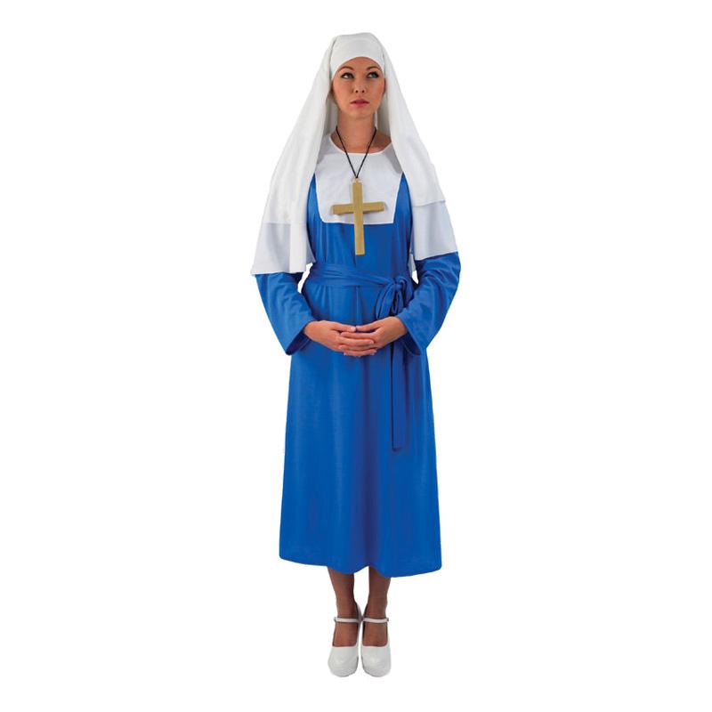 Blå Nunna Maskeraddräkt - One size