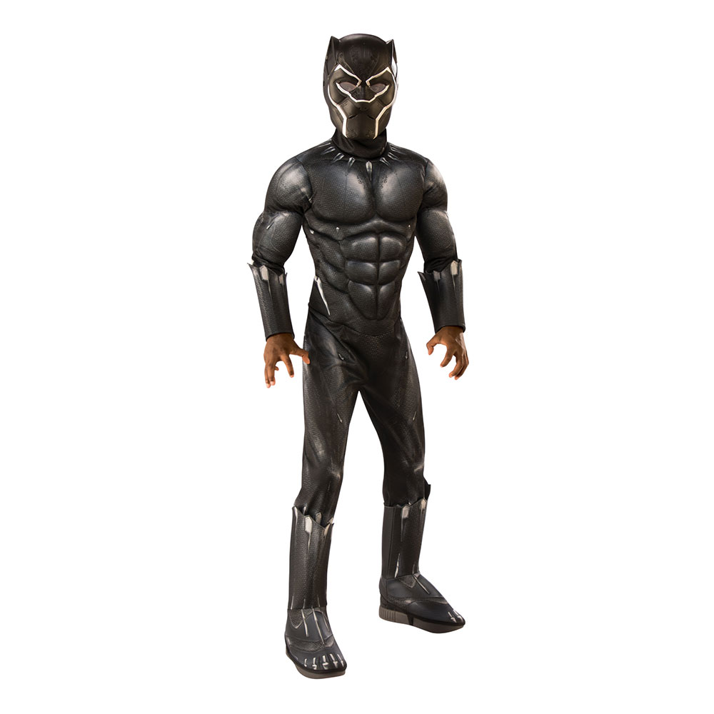 Black Panther Movie Deluxe Barn Maskeraddräkt - Small