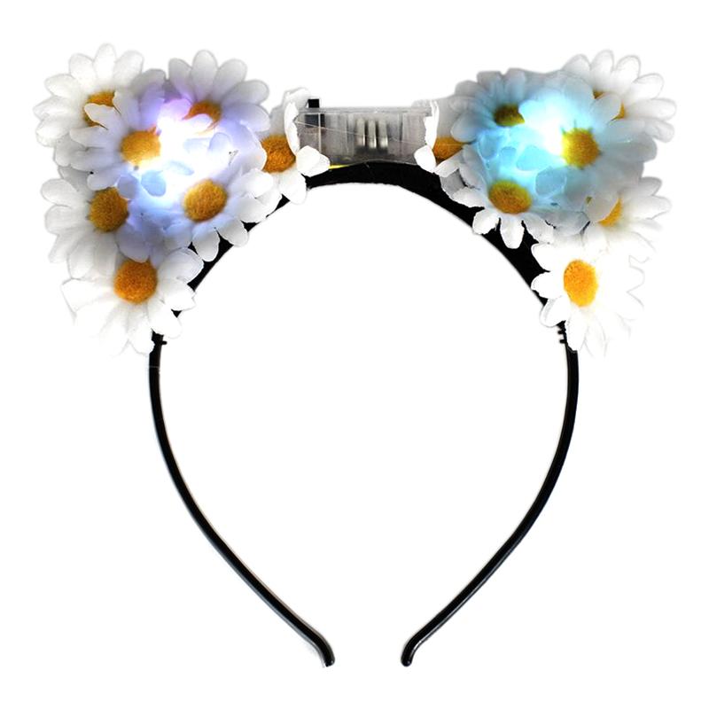 Blinkande Diadem med Blommor - One size