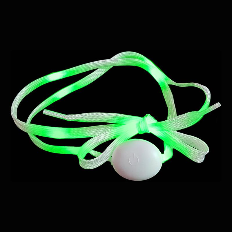 Blinkande Skosnören - Grön