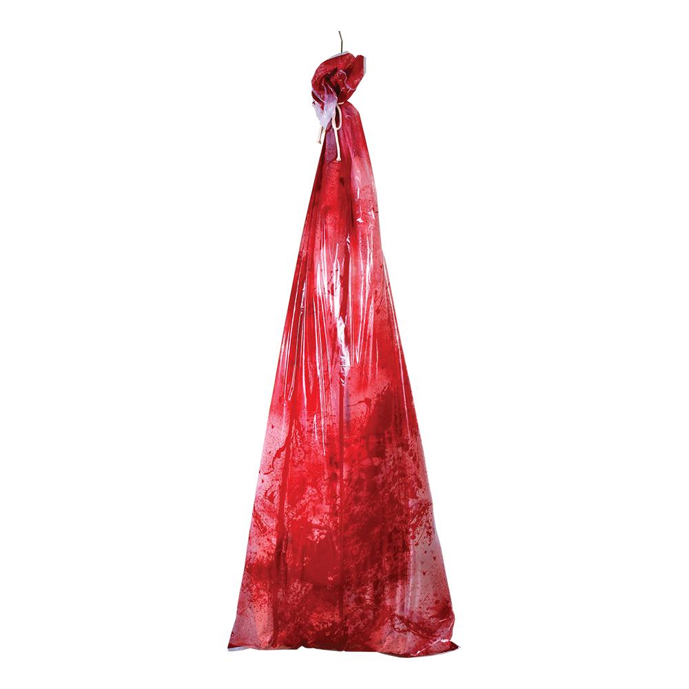 Blodig Kropp i Sopsäck