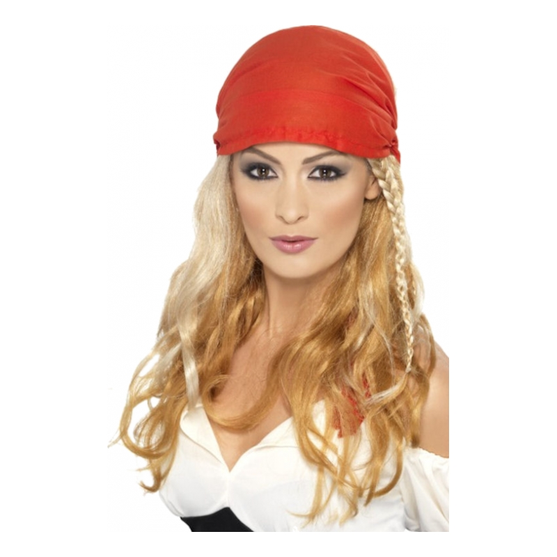 Blond Piratperuk med Bandana - One size