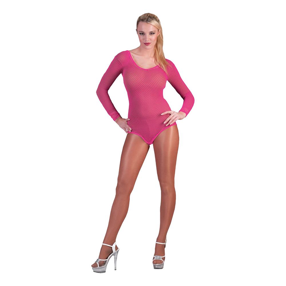 Bodysuit Fisknät Rosa - One size