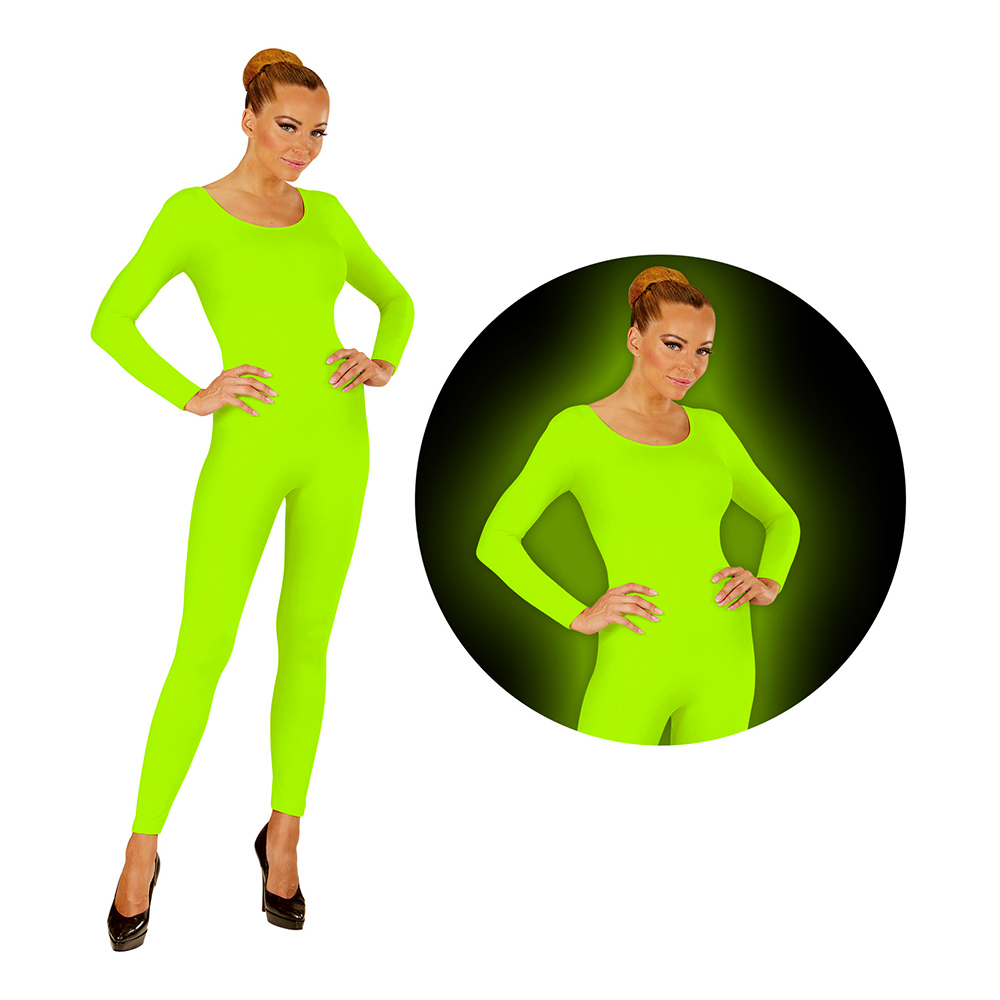 Bodysuit UV Neon Grön - Small/Medium