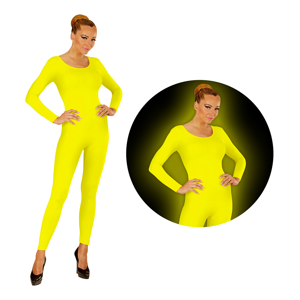 Bodysuit UV Neon Gul - Small/Medium